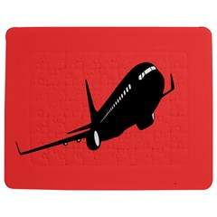 Air Plane Boeing Red Black Fly Jigsaw Puzzle Photo Stand (rectangular) by Alisyart