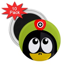 Animals Penguin 2 25  Magnets (10 Pack)  by Alisyart