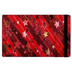 Advent Star Christmas Poinsettia Apple Ipad 2 Flip Case by Nexatart
