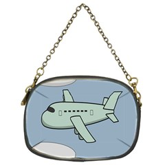 Airplane Fly Cloud Blue Sky Plane Jpeg Chain Purses (two Sides)  by Alisyart