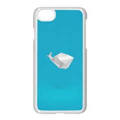 Animals Whale Blue Origami Water Sea Beach Apple Iphone 7 Seamless Case (white) by Alisyart