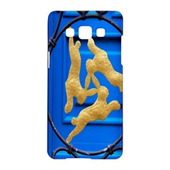 Animal Hare Window Gold Samsung Galaxy A5 Hardshell Case  by Nexatart