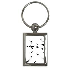 Bird Fly Black Key Chains (rectangle)  by Alisyart