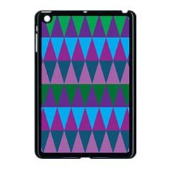 Blue Greens Aqua Purple Green Blue Plums Long Triangle Geometric Tribal Apple Ipad Mini Case (black) by Alisyart