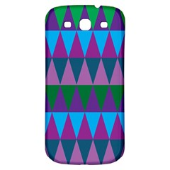 Blue Greens Aqua Purple Green Blue Plums Long Triangle Geometric Tribal Samsung Galaxy S3 S Iii Classic Hardshell Back Case by Alisyart
