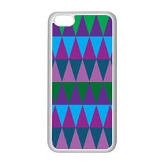 Blue Greens Aqua Purple Green Blue Plums Long Triangle Geometric Tribal Apple Iphone 5c Seamless Case (white) by Alisyart
