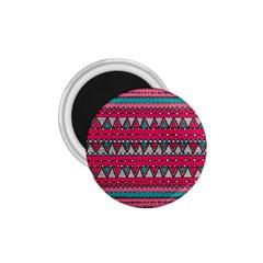 Aztec Geometric Red Chevron Wove Fabric 1 75  Magnets by Alisyart