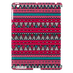 Aztec Geometric Red Chevron Wove Fabric Apple Ipad 3/4 Hardshell Case (compatible With Smart Cover) by Alisyart
