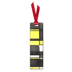 Color Geometry Shapes Plaid Yellow Black Small Book Marks by Alisyart