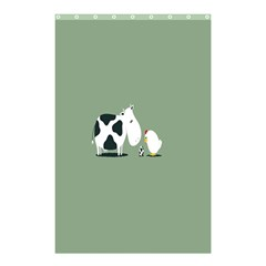 Cow Chicken Eggs Breeding Mixing Dominance Grey Animals Shower Curtain 48  x 72  (Small)  by Alisyart