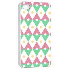 Diamond Green Circle Yellow Chevron Wave Apple Iphone 4/4s Seamless Case (white) by Alisyart