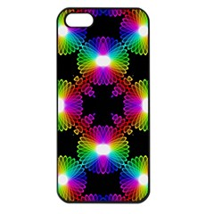 Circle Color Flower Apple Iphone 5 Seamless Case (black) by Alisyart