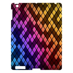 Colorful Abstract Plaid Rainbow Gold Purple Blue Apple Ipad 3/4 Hardshell Case by Alisyart