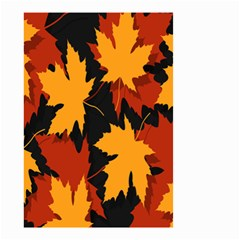 Dried Leaves Yellow Orange Piss Small Garden Flag (two Sides) by Alisyart
