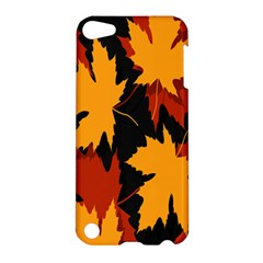 Dried Leaves Yellow Orange Piss Apple Ipod Touch 5 Hardshell Case by Alisyart