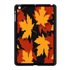 Dried Leaves Yellow Orange Piss Apple Ipad Mini Case (black) by Alisyart