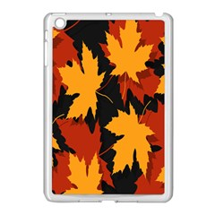 Dried Leaves Yellow Orange Piss Apple Ipad Mini Case (white) by Alisyart
