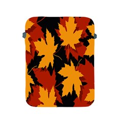 Dried Leaves Yellow Orange Piss Apple Ipad 2/3/4 Protective Soft Cases by Alisyart