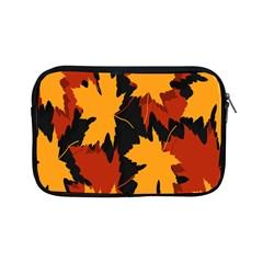 Dried Leaves Yellow Orange Piss Apple Ipad Mini Zipper Cases by Alisyart