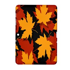 Dried Leaves Yellow Orange Piss Samsung Galaxy Tab 2 (10 1 ) P5100 Hardshell Case  by Alisyart