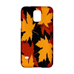 Dried Leaves Yellow Orange Piss Samsung Galaxy S5 Hardshell Case  by Alisyart