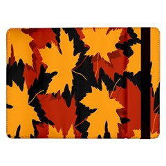 Dried Leaves Yellow Orange Piss Samsung Galaxy Tab Pro 12 2  Flip Case by Alisyart