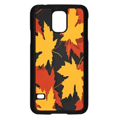 Dried Leaves Yellow Orange Piss Samsung Galaxy S5 Case (black) by Alisyart