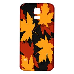 Dried Leaves Yellow Orange Piss Samsung Galaxy S5 Back Case (white) by Alisyart
