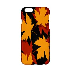 Dried Leaves Yellow Orange Piss Apple Iphone 6/6s Hardshell Case by Alisyart