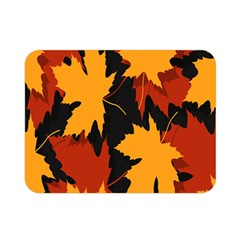 Dried Leaves Yellow Orange Piss Double Sided Flano Blanket (mini)  by Alisyart