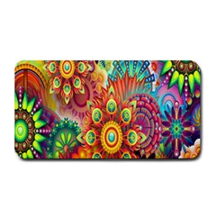 Colorful Abstract Flower Floral Sunflower Rose Star Rainbow Medium Bar Mats by Alisyart
