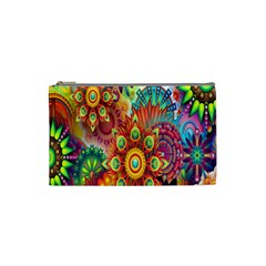 Colorful Abstract Flower Floral Sunflower Rose Star Rainbow Cosmetic Bag (small)  by Alisyart