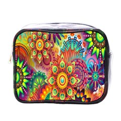Colorful Abstract Flower Floral Sunflower Rose Star Rainbow Mini Toiletries Bags by Alisyart