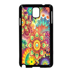 Colorful Abstract Flower Floral Sunflower Rose Star Rainbow Samsung Galaxy Note 3 Neo Hardshell Case (black) by Alisyart