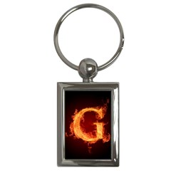 Fire Letterz G Key Chains (rectangle)  by Alisyart