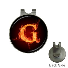 Fire Letterz G Hat Clips With Golf Markers by Alisyart