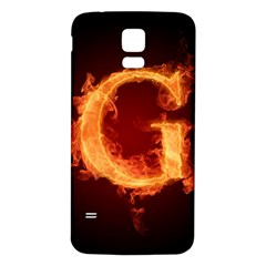Fire Letterz G Samsung Galaxy S5 Back Case (white) by Alisyart