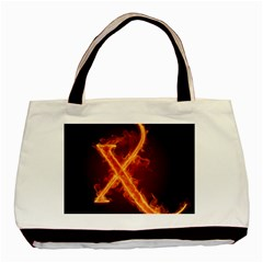 Fire Letterz X Basic Tote Bag (two Sides) by Alisyart