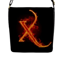 Fire Letterz X Flap Messenger Bag (l)  by Alisyart
