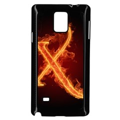 Fire Letterz X Samsung Galaxy Note 4 Case (black) by Alisyart