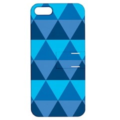 Geometric Chevron Blue Triangle Apple Iphone 5 Hardshell Case With Stand by Alisyart