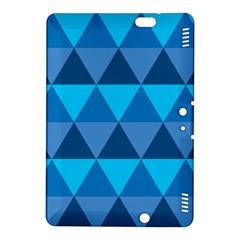 Geometric Chevron Blue Triangle Kindle Fire Hdx 8 9  Hardshell Case by Alisyart