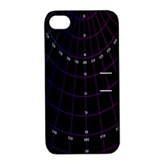 Formula Number Line Purple Natural Apple Iphone 4/4s Hardshell Case With Stand by Alisyart