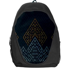 Geometric Triangle Grey Gold Backpack Bag by Alisyart