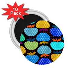 Fruit Apples Color Rainbow Green Blue Yellow Orange 2 25  Magnets (10 Pack)  by Alisyart