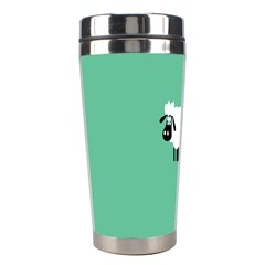 Goat Sheep Green White Animals Stainless Steel Travel Tumblers by Alisyart