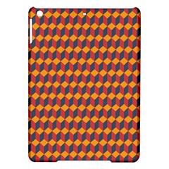 Geometric Plaid Red Orange Ipad Air Hardshell Cases by Alisyart