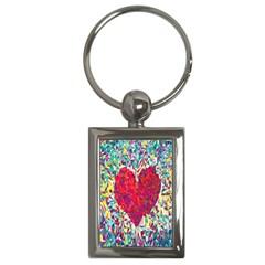 Geometric Heart Diamonds Love Valentine Triangle Color Key Chains (rectangle)  by Alisyart
