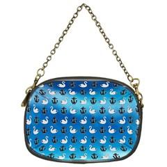 Goose Swan Anchor Blue Chain Purses (one Side)  by Alisyart