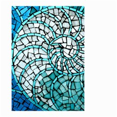 Glass Mosaics Blue Green Small Garden Flag (two Sides) by Alisyart